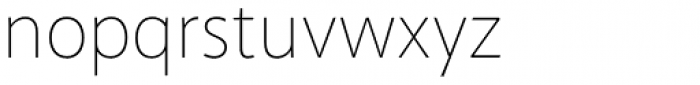Akagi Pro Thin Font LOWERCASE