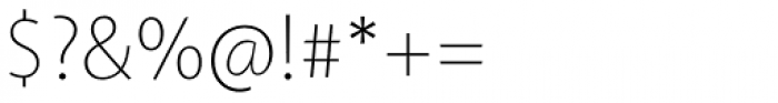 Akagi Thin Font OTHER CHARS