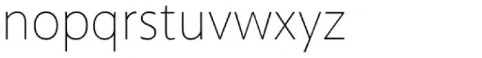 Akagi Thin Font LOWERCASE