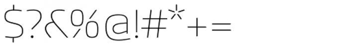 Akceler A Light Font OTHER CHARS