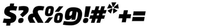 Akceler B Bold Font OTHER CHARS