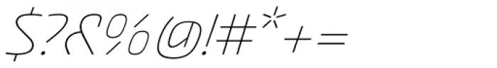 Akceler C Alt Light Font OTHER CHARS