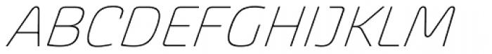 Akceler C Alt Light Font UPPERCASE