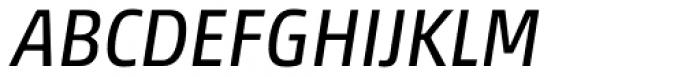 Akko Paneuropean Italic Font UPPERCASE