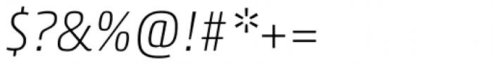 Akko Paneuropean Thin Italic Font OTHER CHARS