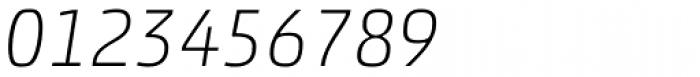 Akko Pro Thin Italic Font OTHER CHARS