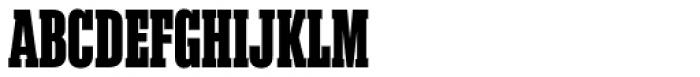 Akkordeon Slab Eight Font UPPERCASE