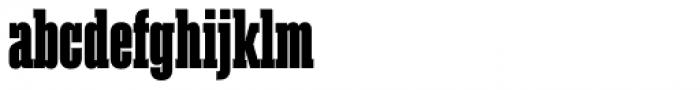 Akkordeon Slab Eight Font LOWERCASE