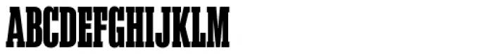 Akkordeon Slab Seven Font UPPERCASE