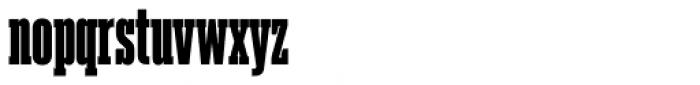 Akkordeon Slab Seven Font LOWERCASE