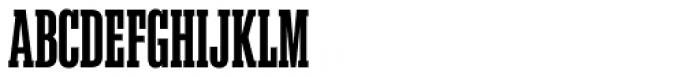 Akkordeon Slab Six Font UPPERCASE