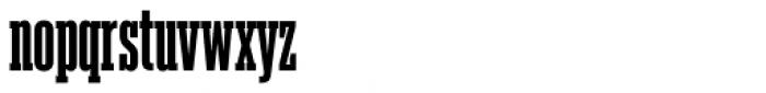 Akkordeon Slab Six Font LOWERCASE