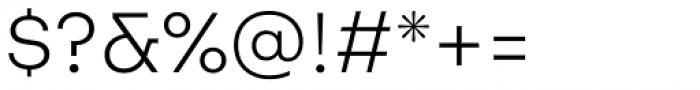 Aktifo A Light Font OTHER CHARS