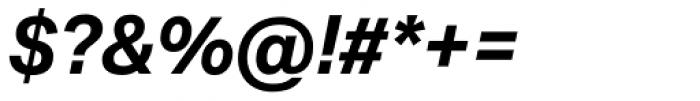 Aktiv Grotesk Bold Italic Font OTHER CHARS