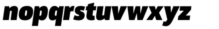Akwe Pro Black Italic Font LOWERCASE