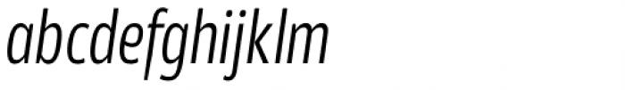 Akwe Pro Con Light Italic Font LOWERCASE