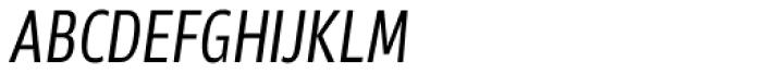 Akwe Pro Con SC Light Italic Font LOWERCASE