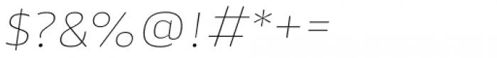 Akwe Pro Ext SC Ultra Thin Italic Font OTHER CHARS