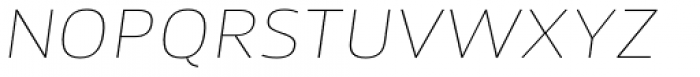 Akwe Pro Ext SC Ultra Thin Italic Font LOWERCASE