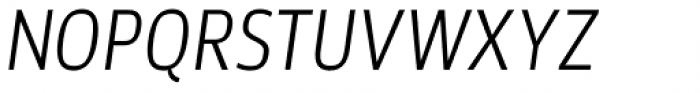 Akwe Pro Nar Light Italic Font UPPERCASE