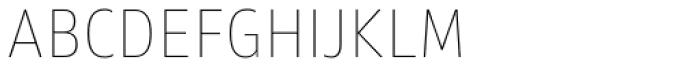 Akwe Pro Nar SC Ultra Thin Font LOWERCASE