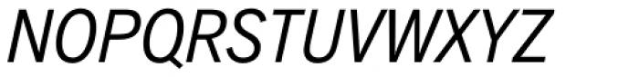 Akzidenz-Grotesk Next Cond Italic Font UPPERCASE