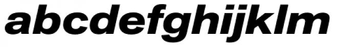Akzidenz-Grotesk Next Ext Bold Italic Font LOWERCASE