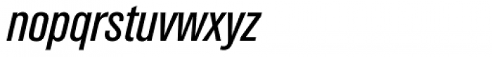 Akzidenz Grotesk Pro Cond Italic Font LOWERCASE