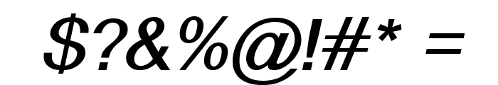 Alido-BoldItalic Font OTHER CHARS