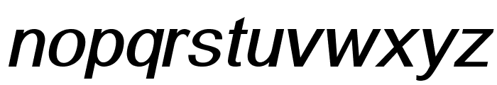 Alido-BoldItalic Font LOWERCASE