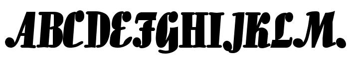 Aloe Bold Font UPPERCASE