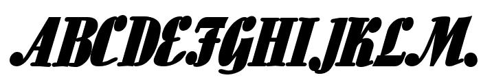 Aloe BoldItalic Font UPPERCASE