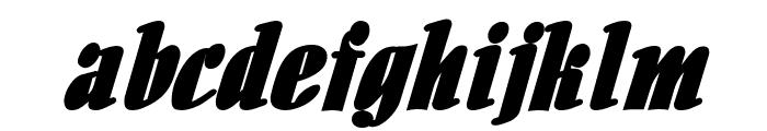 Aloe BoldItalic Font LOWERCASE