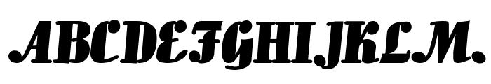 Aloe Extended Bold Font UPPERCASE