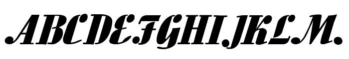 Aloe Extended Italic Font UPPERCASE