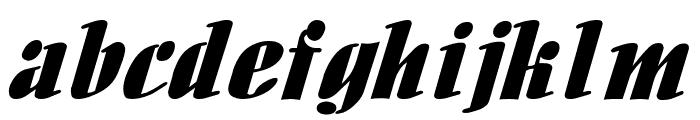 Aloe Extended Italic Font LOWERCASE