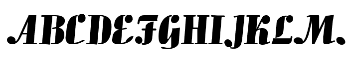 Aloe Extended Normal Font UPPERCASE