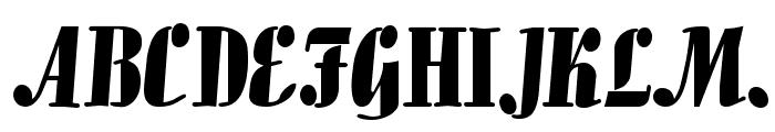 Aloe Normal Font UPPERCASE
