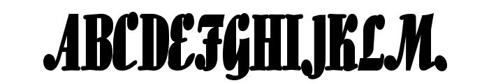 Aloe Thin Bold Font UPPERCASE