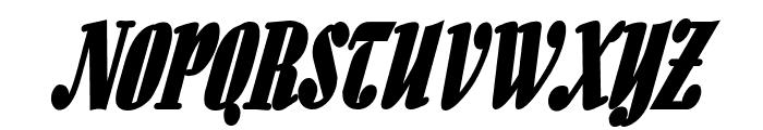 Aloe Thin BoldItalic Font UPPERCASE