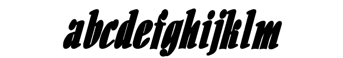 Aloe Thin BoldItalic Font LOWERCASE