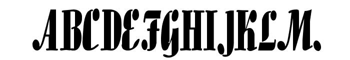 Aloe Thin Normal Font UPPERCASE