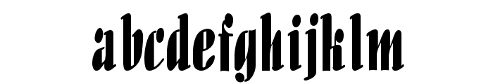 Aloe Thin Normal Font LOWERCASE