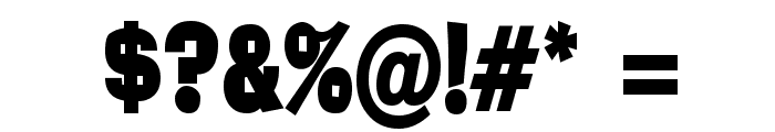 Alor Condensed Bold Font OTHER CHARS