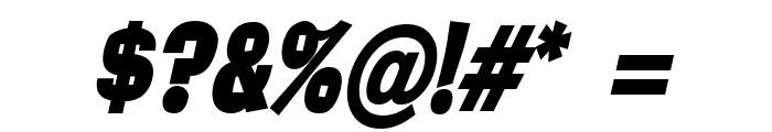 Alor Condensed BoldItalic Font OTHER CHARS