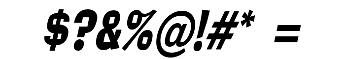 Alor Condensed Italic Font OTHER CHARS
