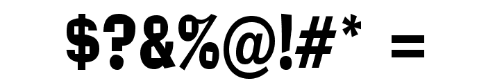 Alor Narrow Condensed Bold Font OTHER CHARS