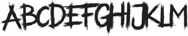 ALASKA Regular otf (400) Font UPPERCASE