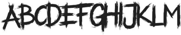 ALASKA Regular otf (400) Font LOWERCASE