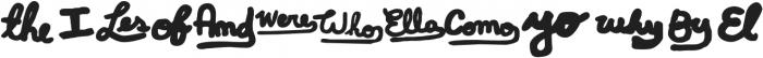 ALBOROTO Words Regular otf (400) Font UPPERCASE